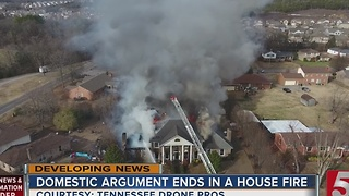 House Fire Started During Domestic Situation - Video
