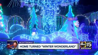 Man turns Scottsdale home into winter wonderland