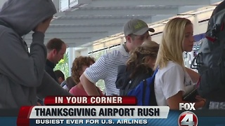 SWFL Thanksgiving travel rush - Video