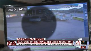 Suspect on the run after child abduction - Video