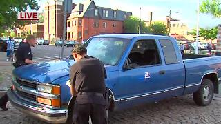 Four people injured when truck runs them over in Midtown Detroit - Video