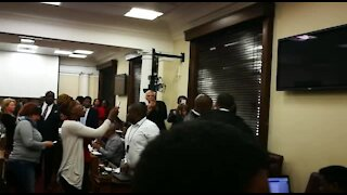 Members of Black First land group ejected from Parliament (K6E)