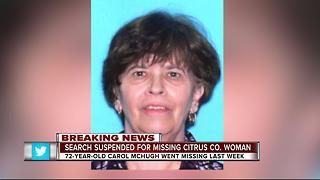 Search suspended for missing Citrus grandmother - Video
