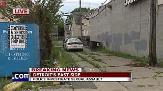 Detroit police investigate reported sexual assault behind gas station - Video