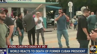 World reacts Saturday morning to the death of Fidel Castro - Video