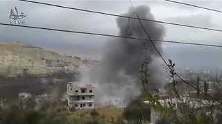 Multiple Aerial Bombardments Reported in Wadi Barada Area - Video