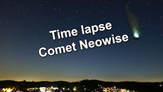 Time lapse and pictures - Comet Neowise C/2020 F3 - Recorded by Canon PowerShot G7X Mark III