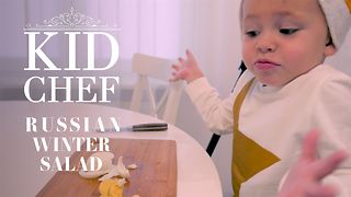 Kid Chef: How (not) to make Russian Winter Salad - Video