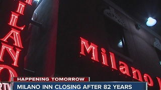 Milano Inn closing after 82 years