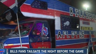 The night before the Bills game: how fans tailgated