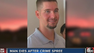 Tampa man dies after crime spree - Video