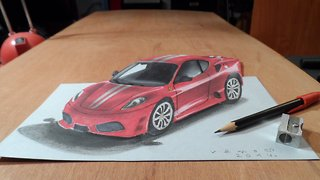How to draw a 3D Ferrari