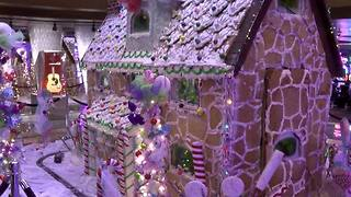 Tulsa's Hard Rock Hotel and Casino builds 12-foot tall gingerbread house - Video