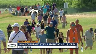 Non-golf drama steals spotlight at U.S. Open - Video