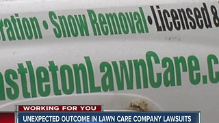 Lawn Care Company Unexpectedly Drops Lawsuits Against Some Customers - Video