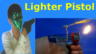 Lighter Gun - how to make a lighter gun easy  - Video