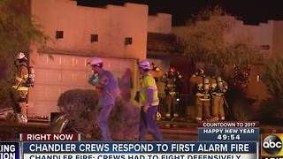 Chandler Fire Department still investigating fire at duplex - Video