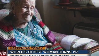 Woman celebrates 117th birthday - Video
