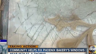 Phoenix restaurant vandalized gets help from community - Video