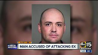 Man accused of attacking ex and her new boyfriend - Video