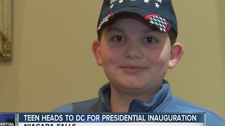 Niagara Falls teen heads to DC for presidential inauguration