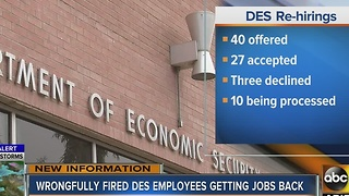 Wrongfully fired DES employees getting jobs back - Video