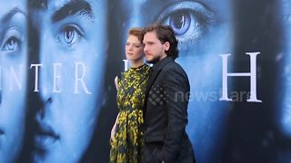 Game of Thrones stars arrive for premiere of new series - Video