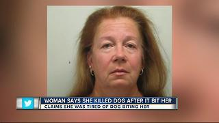 FL woman says she killed dog because it bit her - Video