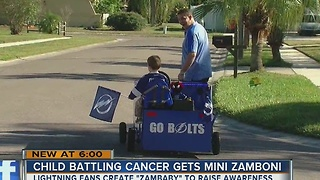 Father and son Lightning Fans find a unique way to help a little boy with cancer - Video
