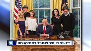 Kid Rock teases run for U.S. Senate - Video