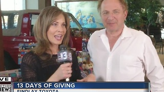 Findlay Toyota is happily accepting donations for 13 Days of Giving - Video