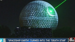 'Spaceship Earth' turned into the 'Death Star' - Video