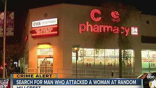 Woman attacked outside of Hillcrest CVS - Video