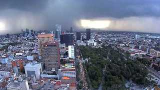 Sheets of Rain Pass Over Mexico City - Video