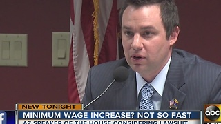 Potential challenge to minimum wage increase in Arizona - Video