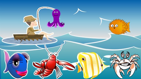 Learn color with the fishing boy - colorful fishs - learn colors for children