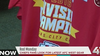 Chiefs fans get decked out in AFC West gear - Video