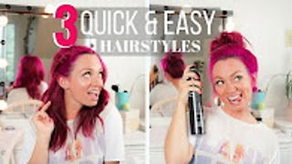 3 Quick and easy hairstyles for travel - Video