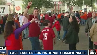 Fans excited for National Championship - Video