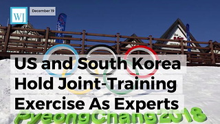 Us And South Korea Hold Joint-training Exercise As Experts Eye Possible Winter Olympics Attack - Video