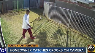 Tempe homeowner catches crooks breaking into home - Video