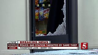 Suspect Hits Berry Hill Gas Station For 2nd Time - Video