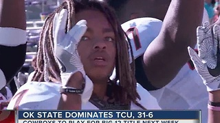 Oklahoma State dominates TCU, 31-6 - Video