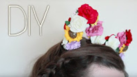 Easy festival flower kitty headband: DIY