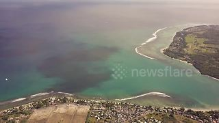 Beautiful drone footage of a 'hidden piece of paradise' in Mauritius - Video
