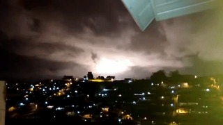 Flashes from Recife Transformer Explosion Light Up Night Sky - Video