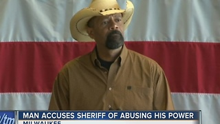 Man says Sheriff David Clarke harassed him after flight from Dallas - Video
