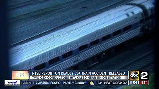 NTSB: 2 CSX workers hit by Amtrak after inspecting railcar - Video