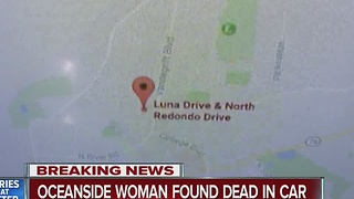Oceanside woman found dead in car - Video