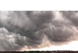 Storm Clouds Roll Over O'Hare International Airport - Video